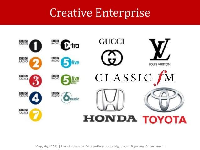 Creative Enterprise Copy right 2011   Brunel University. Creative Enterprise Assignment - Stage two. Ashima Amar