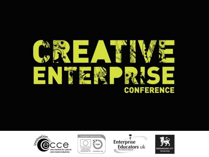Creative enterprise conference slide show