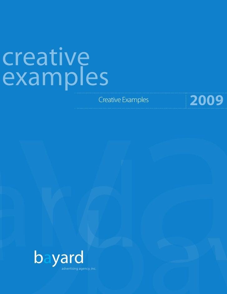creative examples                                                     2009                                 Creative Exampl...