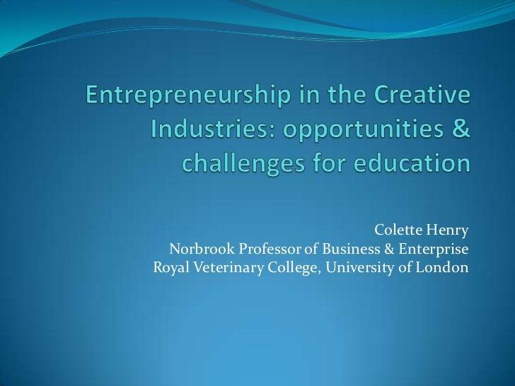 Creative industries conference birmingham Colette Henry