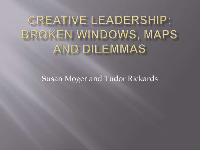 Susan Moger and Tudor Rickards