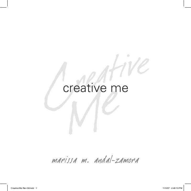 """Creative me""  by marissa m. andal-zamora"