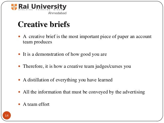 writing a creative brief advertising