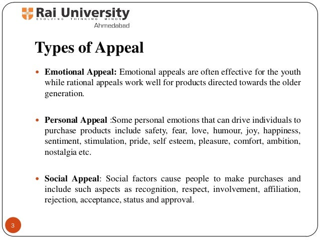 types of appeals in writing Why write for personality types by writing to your prospect's personality, you can connect with them on a level that everyone in the marketplace ignores.