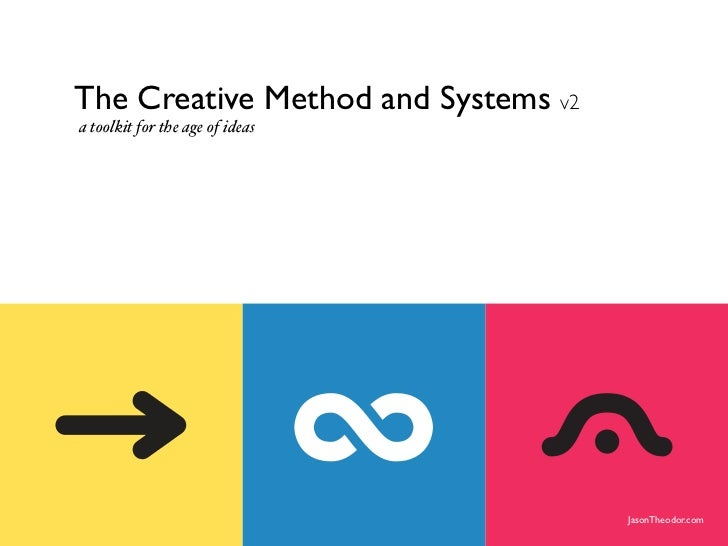 The Creative Method and Systems v2                       a toolkit for the age of ideas                    The Creative Me...