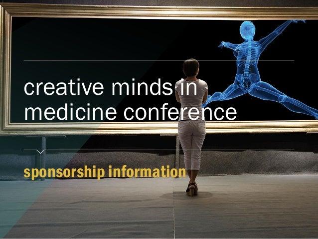 sponsorship information creative minds in medicine conference