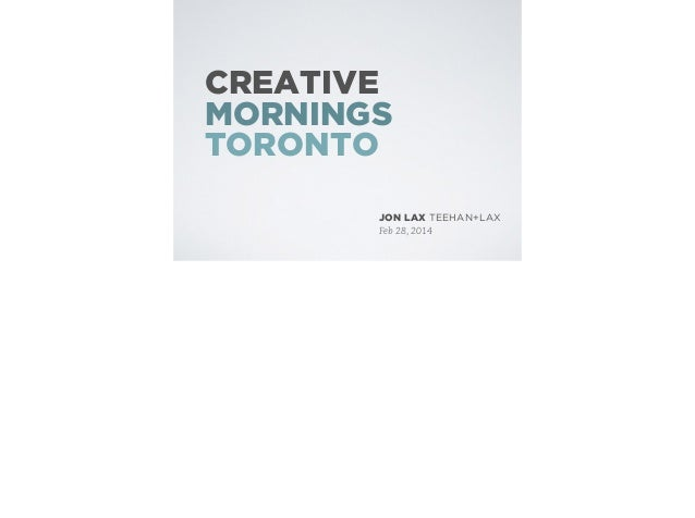 The History of the Billable Hour: Creative Mornings Toronto