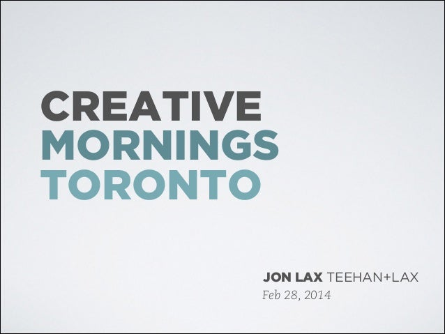 The History of the Billable Hour: Creative Mornings Toronto (without speaker notes)
