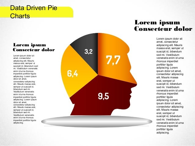 Creative Pie Diagrams for PowerPoint by PoweredTemplate.com