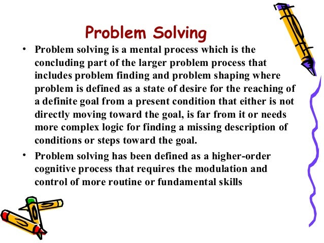 Process skills in problem solving