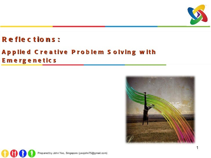 Reflections:  Applied Creative Problem Solving with Emergenetics