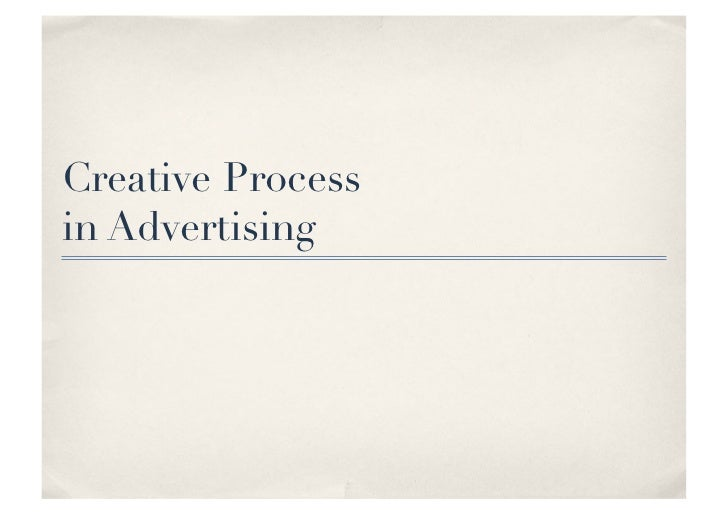 Creative Process in Advertising