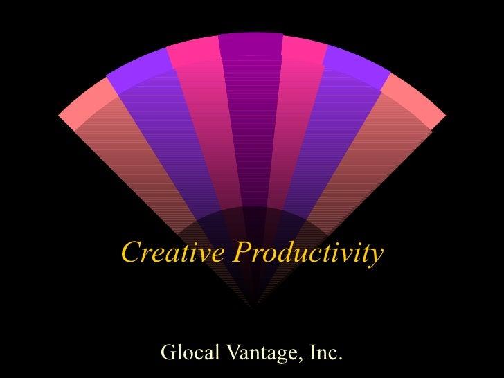 Creative Productivity Glocal Vantage, Inc.