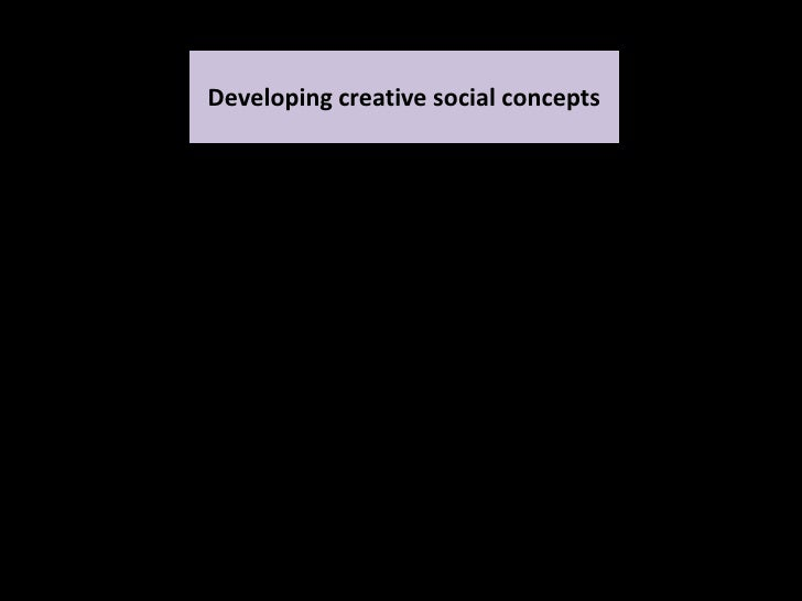 Developing creative social concepts