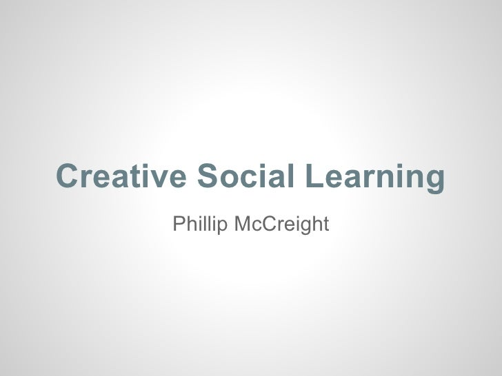 Creative social learning