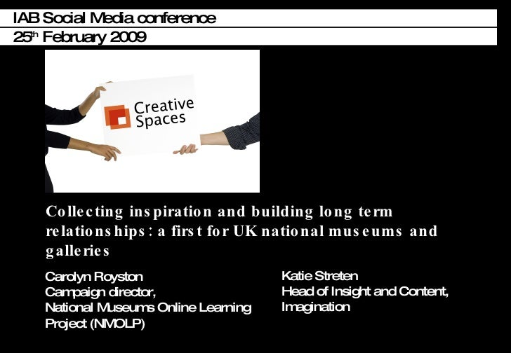 Creative Spaces - social media and museums