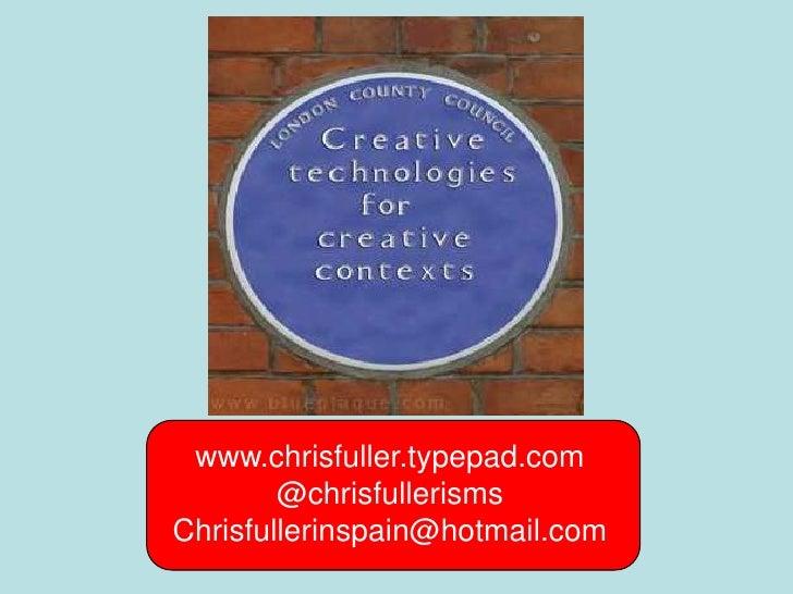 Creative technologies for creative contexts