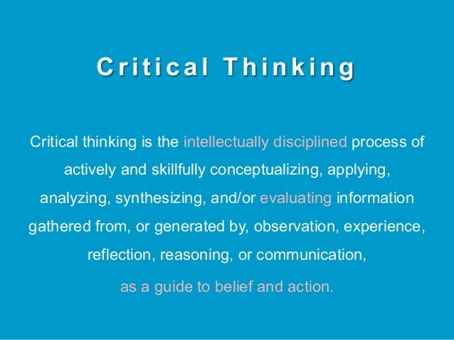 essays on critical and creative thinking Critical thinking is an important and valuable skill to have critical thinking affects both your professional lifestyle as well as your personal lifestyle critical thinkers should.