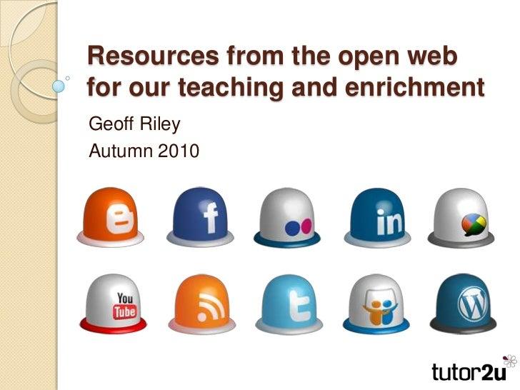 Creative use open_web