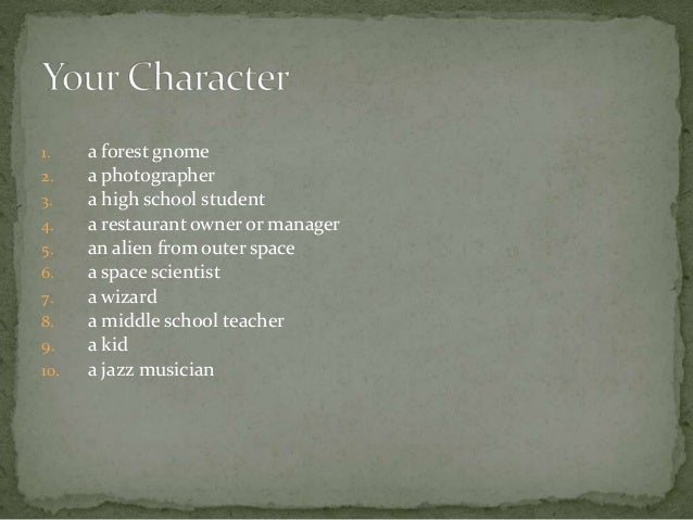 topics for creative writing for highschool students