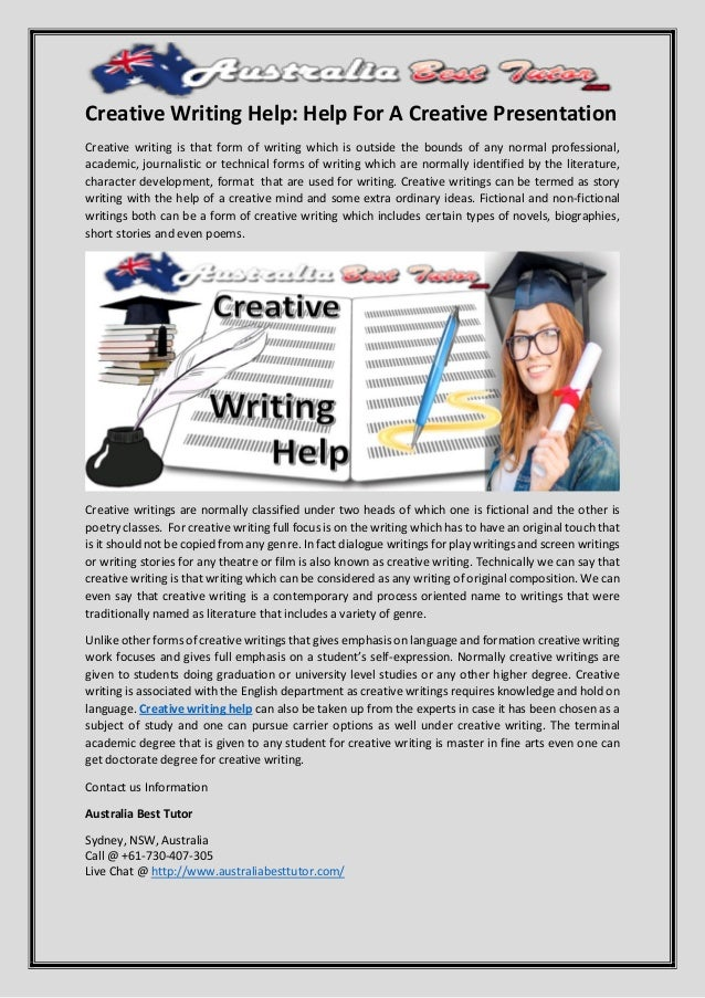 Creative writing help websites