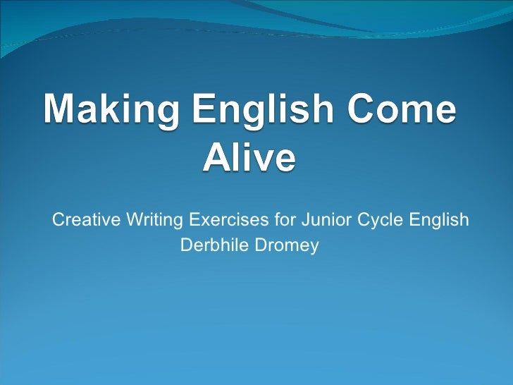 Creative writing in service 27-01-11