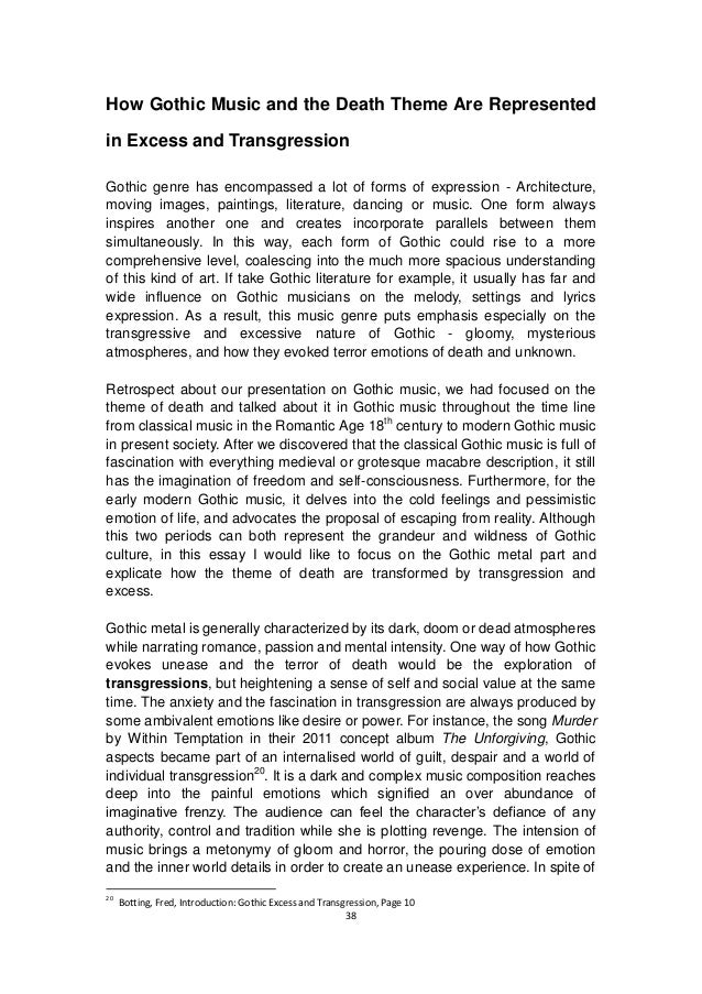 transgression in art and architecture essay Anna maria guasch is an art critic and professor of art history at the university of barcelona since 1994 her research has revolved around the study of the creative processes of international art in the second half of the twentieth century.
