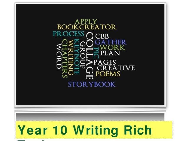 Year 10 Writing Rich