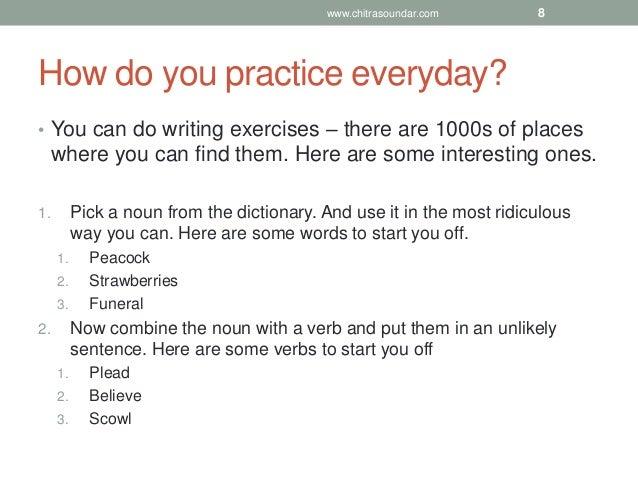 How to do creative writing