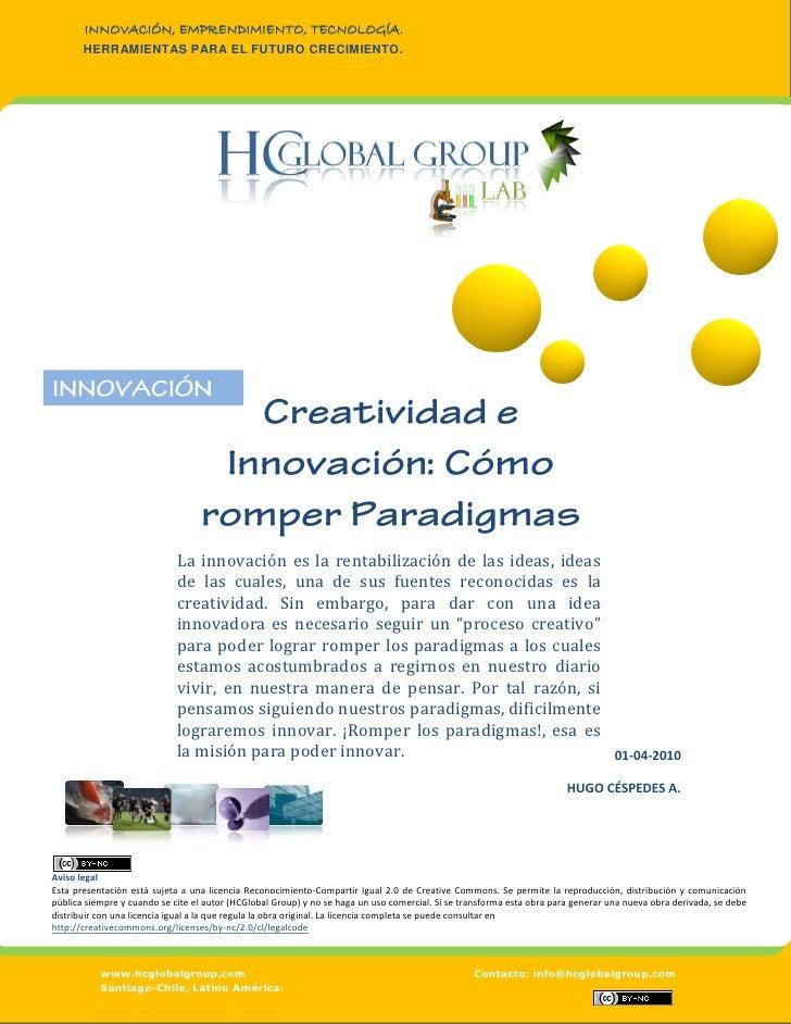 Creatividad e Innovación, cómo romper paradigmas