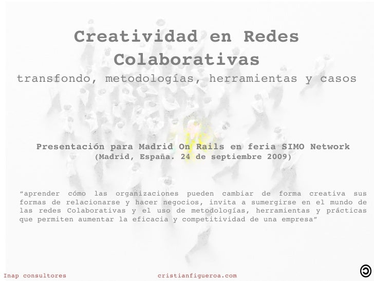CreatividadenRedes                         Colaborativas     transfondo,metodologías,herramientasycasos           ...