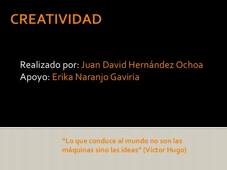 Creatividad final