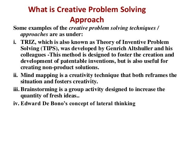 Creative Problem Solving Example