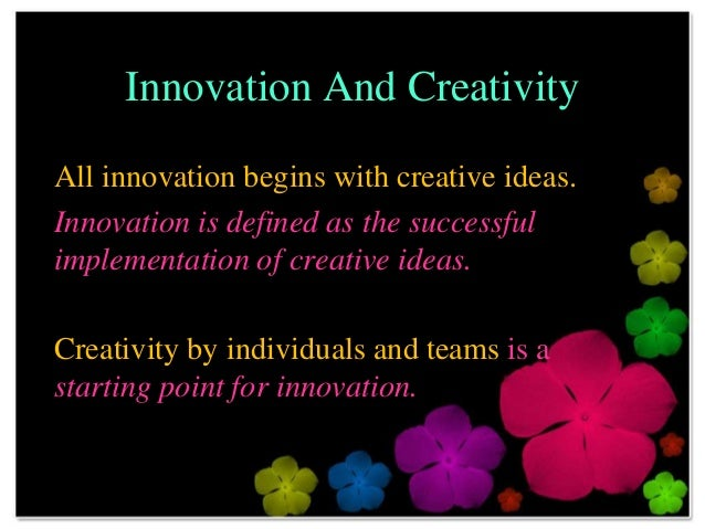 essays on creativity and innovation