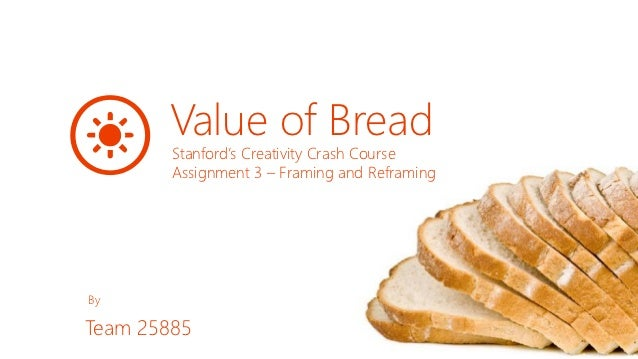 Value of Bread        Stanford's Creativity Crash Course        Assignment 3 – Framing and ReframingByTeam 25885