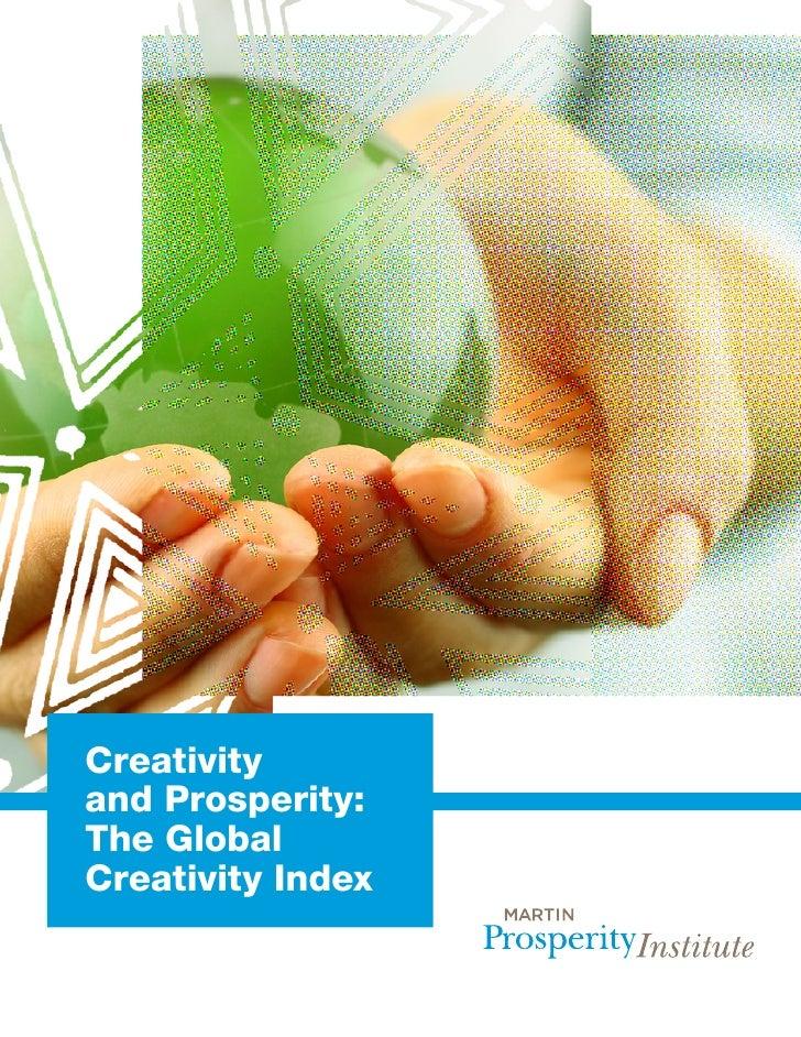 Creativityand Prosperity:The GlobalCreativity Index
