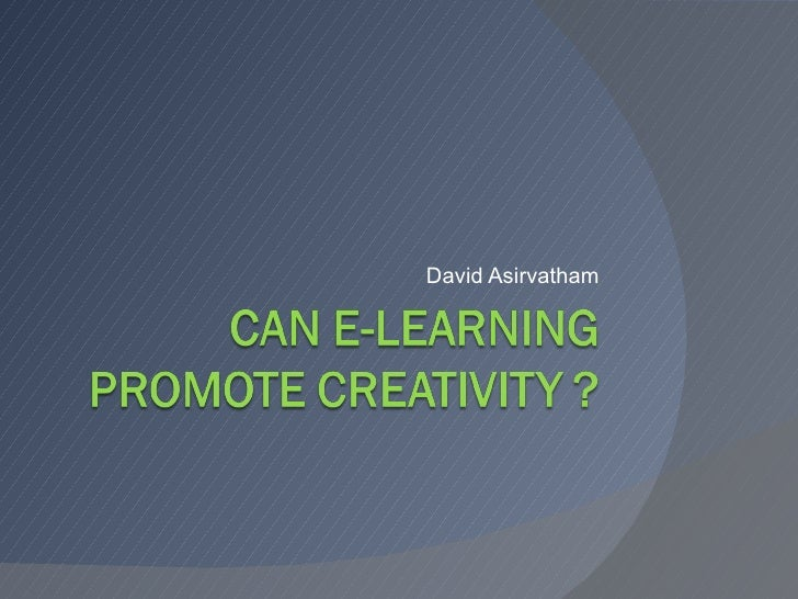 Can e-learning promote creativity?