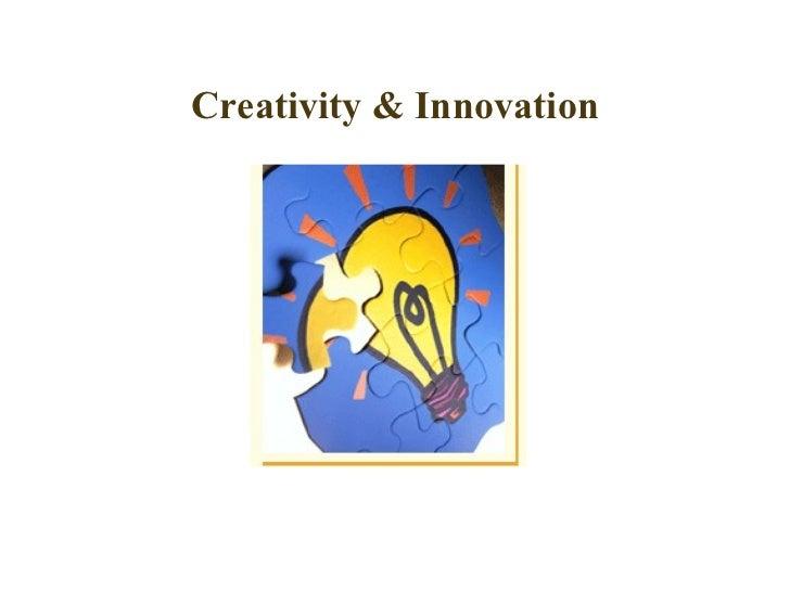 Creativity & Innovation   Technique