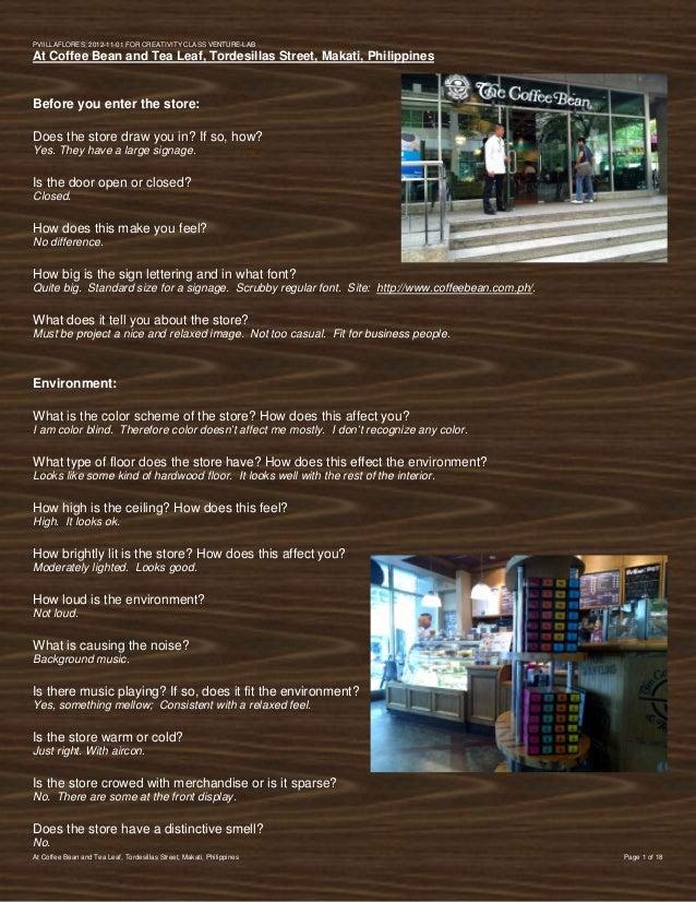 PVIlLLAFLORES; 2012-11-01 FOR CREATIVITY CLASS VENTURE-LABAt Coffee Bean and Tea Leaf, Tordesillas Street, Makati, Philipp...