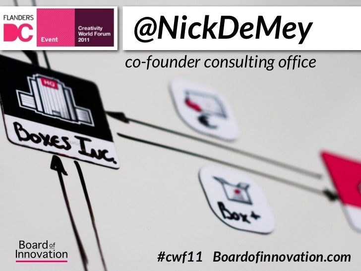 @NickDeMeyco-founder consulting office    #cwf11 Boardofinnovation.com