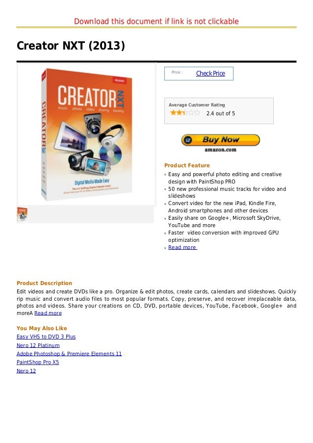 Download this document if link is not clickableCreator NXT (2013)                                                         ...