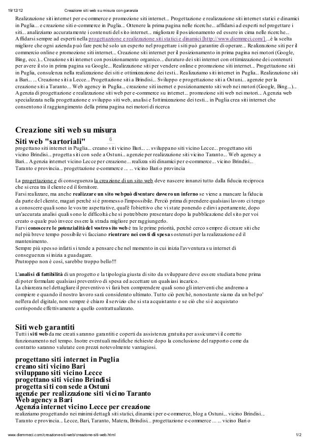 19/12/12                       Creazione siti web su misura con garanzia    Realizzazione siti internet per e-commerce e p...