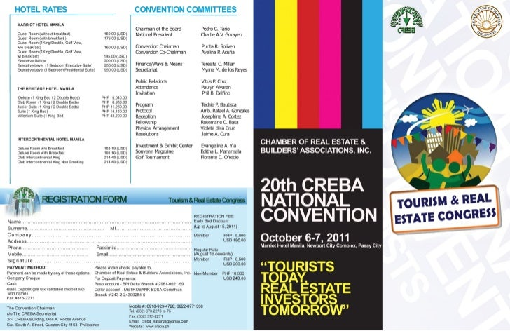 CREBA Convention Brochure