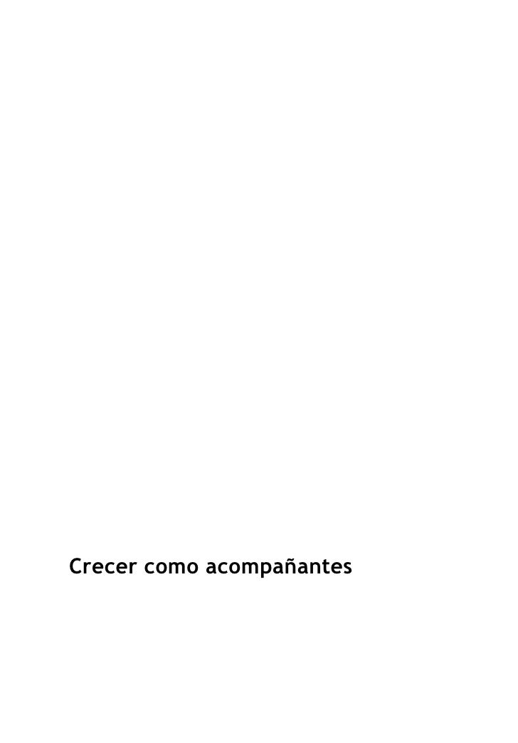 CRECER COMO ACOMPAÑANTES - COLECCIÓN ACOMPAÑAMIENTO EN FE Y ALEGRIA