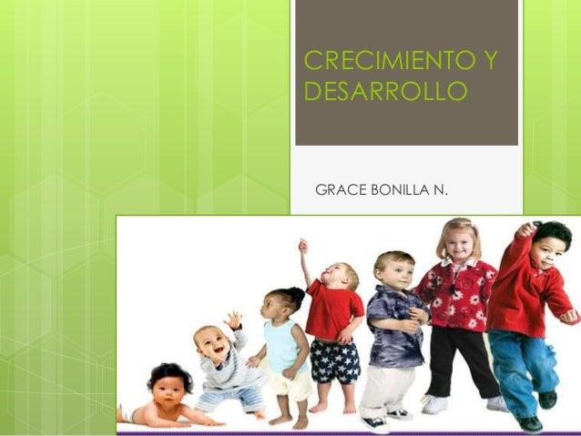 CRECIMIENTO Y DESARROLLO  GRACE BONILLA N.