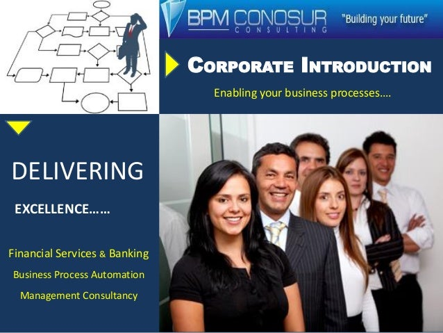 CORPORATE INTRODUCTION Enabling your business processes…. DELIVERING EXCELLENCE…… Financial Services & Banking Business Pr...