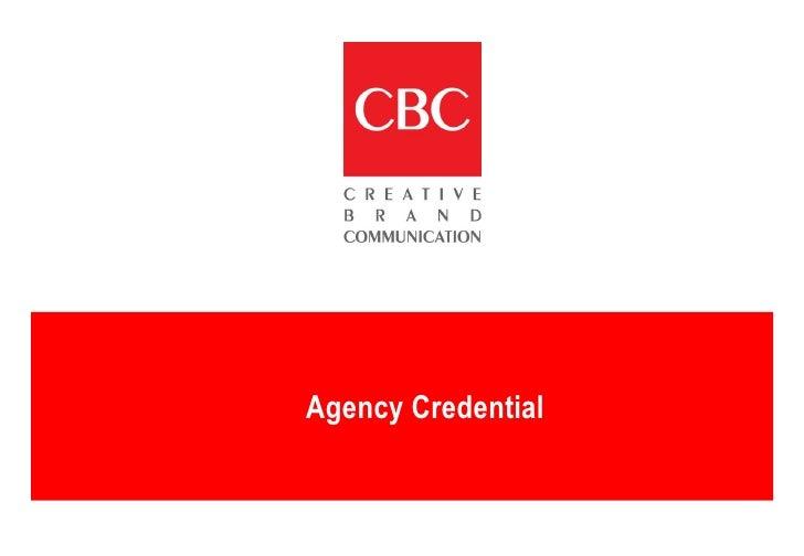 Credential CBC 2009