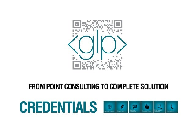 FROM POINT CONSULTING TO COMPLETE SOLUTIONCREDENTIALS