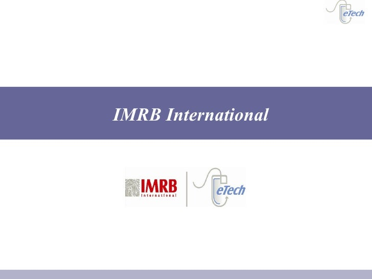 Credentials Imrb International