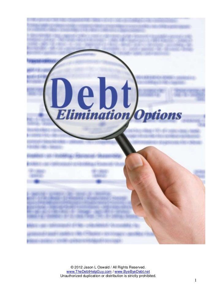 Credit Card Debt Elimination Options